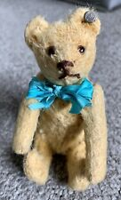 "RARE ANTIQUE Circa 1910 STEIFF MINIATURE GOLDEN TEDDY BEAR 5"" FF Long f Button"