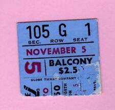 Bobby Orr 1967 Ticket Pass Goal at Boston Bruins Nov 5 vs Toronto Maple leafs