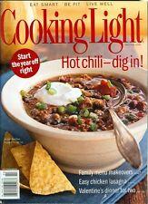 2006 Cooking Light Magazine: Hot Chili/Easy Chicken Lasagna/Valentine's Dinner
