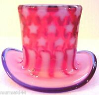 Fenton Stars & Stripes Collection Top Hat Vase Limited Edition New MIB