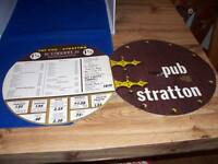 Vintage 1960s The Pub and Stratton Restaurant Menu
