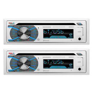 Boss CD/MP3 Marine/Boat In-Dash Player USB/AUX SD Receiver+Bluetooth (2 Pack)