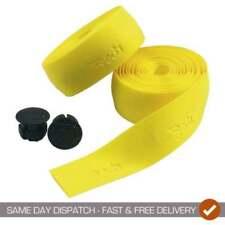 Puños y cintas amarillos de corcho para manillar de bicicletas
