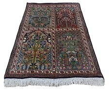 Oriental Persian Kashmir Handmade Knotted Silk Rug Carpet, Room Decor Floor Area