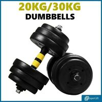20/30KG Dumbells Pair Gym Weights Barbell Dumbbell Body Building Free Weight Set