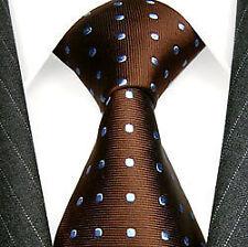Cravates, nœuds papillon et foulards marrons pour homme en 100% soie