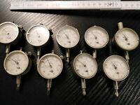 Mitutoyo 1040 versch.  Feinmessuhr Ø 41 mm Messuhr 0,01mm Messbereich bis 3,5 mm