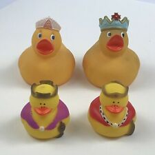 Rubber Ducks Royal King and Queen 4 pieces