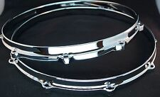 "New Ludwig CHROME Die Cast Snare Drum Hoops 14"" 10 Ear/Hole/Lug"