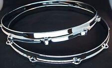 "New Ludwig CHROME Die Cast Snare Drum Hoops 14"" 10 Ear/Hole/Lug"
