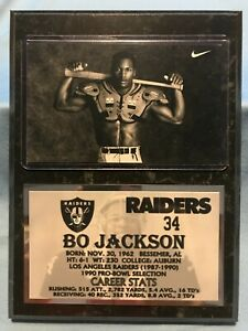 BO JACKSON  OAKLAND RAIDERS  SUBLIMATION PHOTO PLAQUE