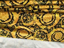 5 Meters Long 1.4 M Wide Black & Gold Barocco Velvet Fabric