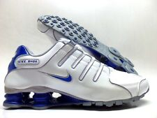 NIKE SHOX NZ WHITE/GAME ROYAL-WOLF GREY SIZE MEN'S 8 [378341-140]