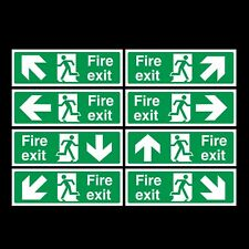 Fire Exit Rigid Plastic Sign 300x100mm
