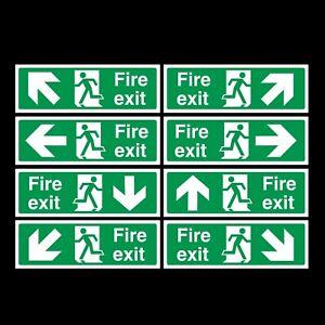 Fire Exit Rigid Plastic Sign 300x100mm
