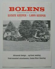 BOLENS Lawn / Estate Keeper 1960s dealer brochure - English - Canada