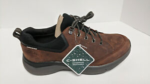 Clarks Wave 2.0 Vibe Sneakers, Brown Leather, Men's 10.5 M