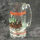 Vintage Christmas Clydesdales Budweiser Glass Mug 16oz