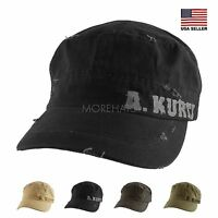 Authentic A Kurtz Vintage Military Army Cotton Baseball Cap Hat Women Men Unisex