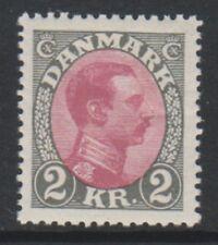 More details for denmark - 1926, 2k claret & grey king christian x stamp - m/m - sg 169
