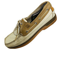 Sperry Top Sider Mens Size 9.5 M Tan/Brown Leather Boat Shoes - 0768101     HCD