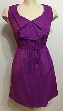 Bebop Purple Women Sleeveless Scarf Collar Dress Size Small