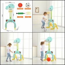 Basketball Hoop Set 3in1 Sports Activity Center Grow to Pro Adjutable Easy Score