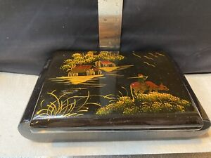 vintage Asian lacquer jewelry box