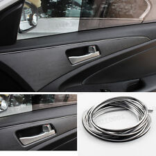 Chrome Silver 5M Flexible Car Styling Interior Molding Trim Decor Strip Gap Fill