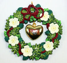 Carlton Christmas Ornament The Heart 1995 Wreath Heirloom Collection Tree Nos