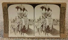 ROSES STEREOSCOPIC STEREO VIEWER PHOTO CARD 4688 DEHLI DURBAR MAGNIFICENCE