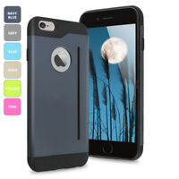 For Apple iPhone 6S & Plus Ultra Thin Hybrid Shockproof Tough Card Stand Case