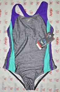 Speedo swimsuit one-piece PRO LT Competitive youth 16 Pro LT new Grey Purple