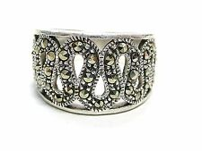 Sterling Silver Ring Marcasites Size 7.5 Signed