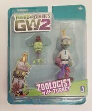 Plants vs. Zombies GW2 Zoologist with Turret Jazwares popcap 3.5in. 2016 figures
