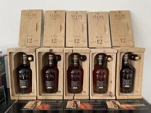 Slyrs Whisky 12 Jahre limitiert - 5 Flaschen in Eichenbox Jahre 2003 2004 2005