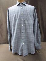 Thomas Dean XLT shirt Long Sleeve dress button front black white checkered