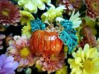 Fantasyard Crystal Halloween Pumpkin Lapel Pin