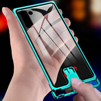 Push-Pull Frameless Metal Glass Back Cover Case For Samsung Galaxy S10+/ Note 10