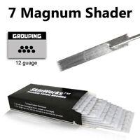 50 PCS 7 Mag Single Magnum Shader Sterile Tattoo Needles 7M1 - USA SELLER