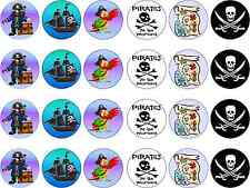 Various Pirate Theme Edible Rice Paper Cupcake Birthday Fairy Cake Toppers