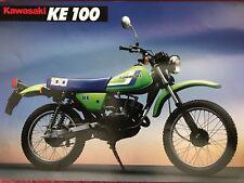 Kawasaki ke100 1990 prospectus brochure prospect