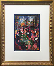 "LeRoy Neiman "" Baccarat Atlantic City"" Newly CUSTOM FRAMED Art Print - Casino"