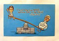 "Vintage 1982 Comic ""BUDGET BUSTER"" Presidential Art Strader Signed PC RARE 1226"