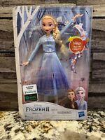 Disney Frozen 2 Singing Elsa Fashion Doll Wearing Blue Dress - New In Box