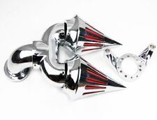 Chrome Two Spike Intake Air Cleaner Filter For Harley CV Carbuetor Delphi V-Twin