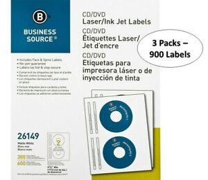 Business Source Laser/Inkjet CD/DVD Labels BSN26149 - 900 Lables