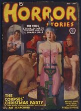 HORROR STORIES Pulp MAGAZINE, December-January 1938-39, Very Good Condition