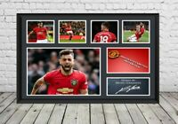 Bruno Fernandes Signed Poster Photo Manchester United Football Memorabilia