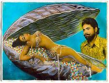 Photo rehaussée Inde India - La Perle - Tirage argentique d'époque -